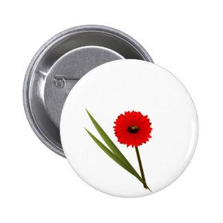 Red Gerbera Flower Clipart Pin