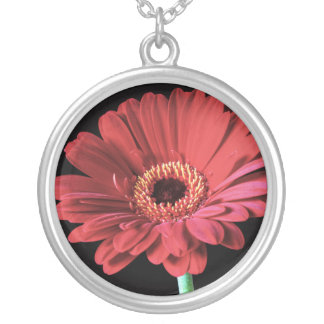 Red Gerbera necklace