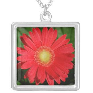 Red Gerbera Necklace