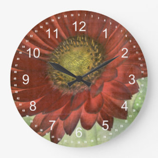 Red Gerbera Wall Clocks