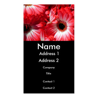 Red Gerbera with Black Profile Card Business Card Template