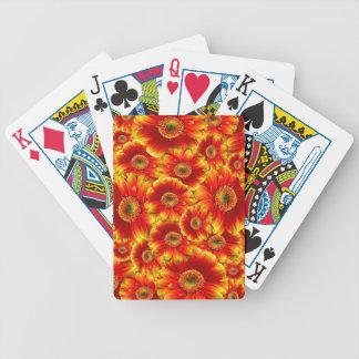Red Gerberas Poker Deck