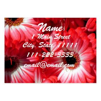 Red Gerberas Profile Card Business Card Templates