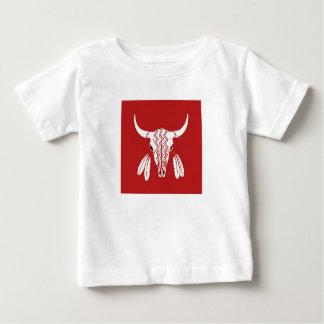 Red Ghost Dance Buffalo baby shirt