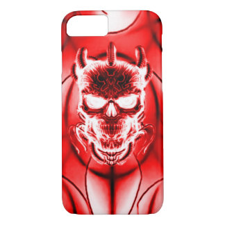 Red Ghost Skull iPhone 7 Case