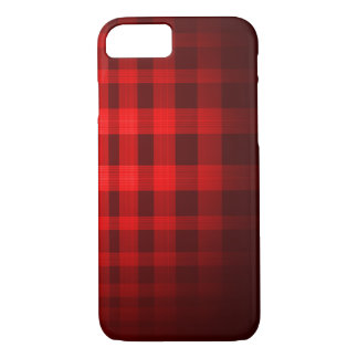 Red Ghost Tartan Pattern iPhone 7 Case