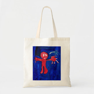 Red giant with shooting star by Johnny Tote Bag