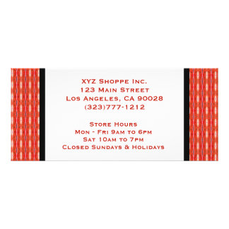 red gift certificate rack card
