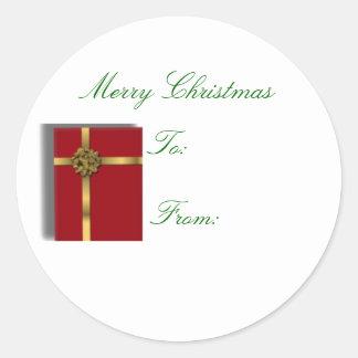 Red Gift sticker