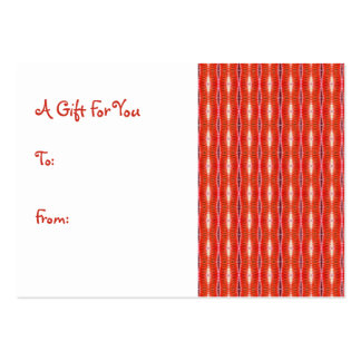 red gift tags pack of chubby business cards