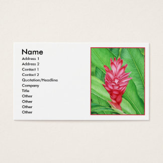 Red Ginger Watercolour Business Card