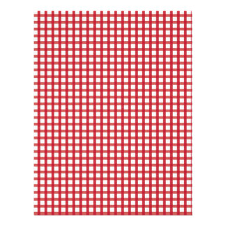 Red Gingham Baby Scrapbook Paper Custom Letterhead