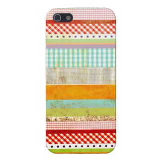 Red Gingham Blue Gingham Striped iPhone 5 Case