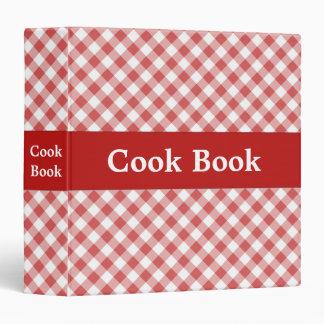 Red Gingham Cook Book Binder