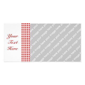 Red Gingham + Custom Color Photo Cards