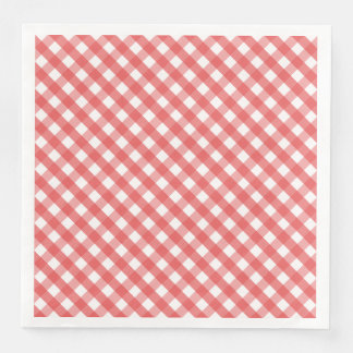 Red Gingham Disposable Napkins