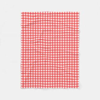 Red Gingham Fleece Blanket
