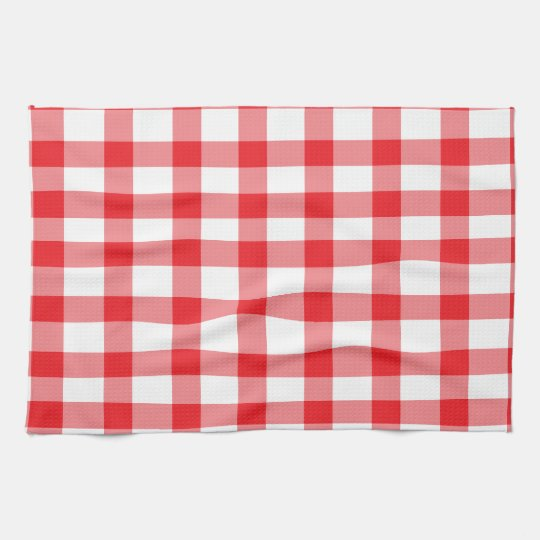 Red Gingham Hand Towels