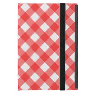 Red Gingham iPad Mini Folio Case Cases For iPad Mini