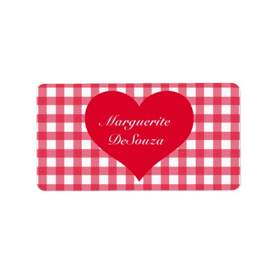 Red Gingham Love