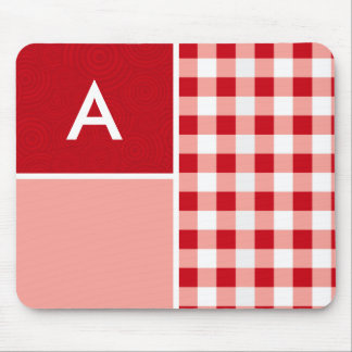 Red Gingham Mouse Pad