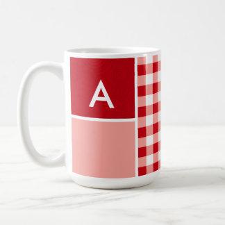 Red Gingham Mug