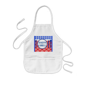 Red Gingham Picnic or Barbecue BBQ For Dad