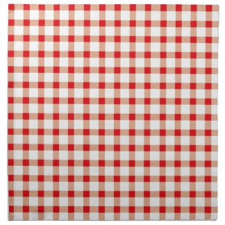 Red gingham printed napkins