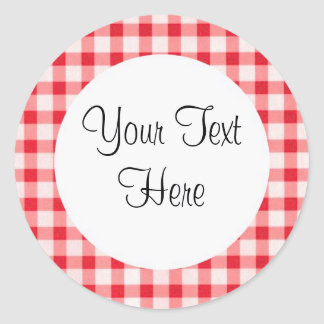Red Gingham Sticker