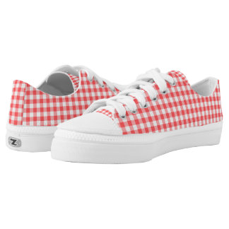 Red Gingham ZipZ Tennis Shoes