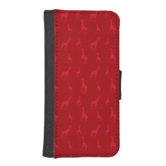 Red giraffes phone wallet