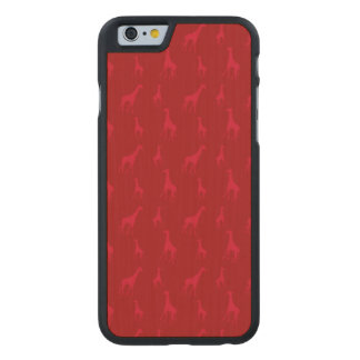 Red giraffes carved® maple iPhone 6 case