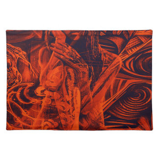 Red girl placemat