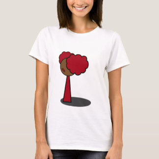 Red Girl Walking T-Shirt