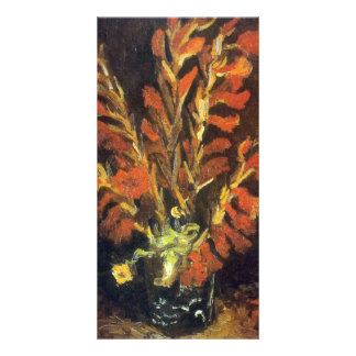 Red Gladioli by Vincent van Gogh Picture Card