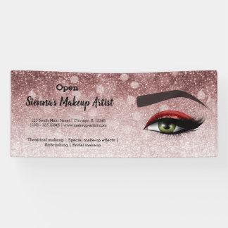 Red glam lashes eyes | makeup artist banner