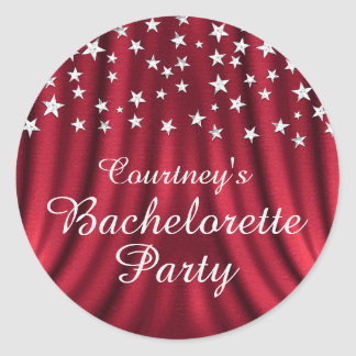 Red Glamorous Star Bachelorette Party Sticker