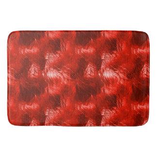 Red Glass Bath Mat