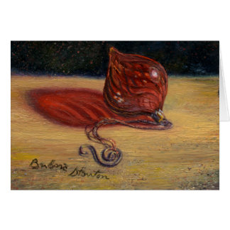 """""""Red Glass Ornament"""" Blank Note Card"""