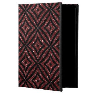 Red Glitter Black Pattern Girly iPad Case