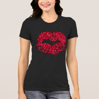 Red Glitter Lips Shirt
