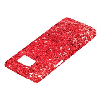red glitter macro samsung galaxy s7 case