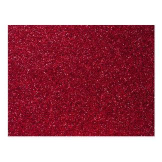 Red Glitter Postcard