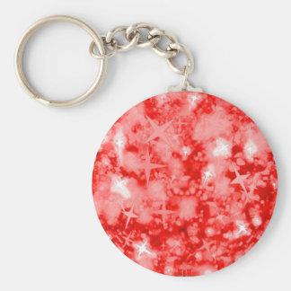 Red glitter sparkly keychain