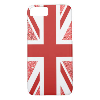 Red Glitter Union Jack iPhone 8/7 Case