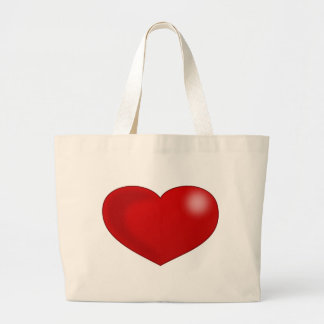 Red Glossy Valentine Heart Bag