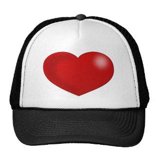 Red Glossy Valentine Heart Trucker Hat