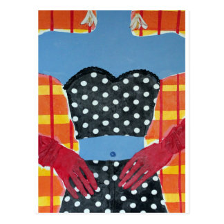 Red Gloves Postcard