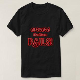 Red Glow Corners like it's on RAILS T shirt