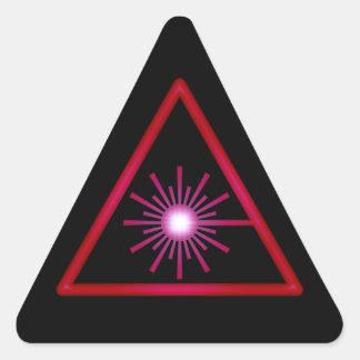 Red Glow Laser Symbol Sticker